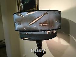 1950s Atomic Vintage Lamp with New Designer Handcrafted Space Age Bi Level Shade