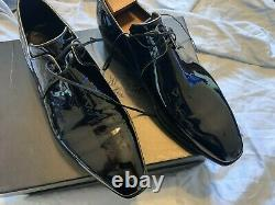 $2200 CORTHAY PATENT Leather Shoes SIZE EU 9 US 10 HAND CRAFTED ITALY