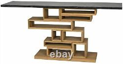 68 W Weston Console Table Hand Crafted Solid Walnut Marble Top Contemporary