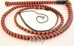 6 Ft Long Stock whip, 8 Plaited Genuine Cow Leather, Heavy Duty, Hand Crafted