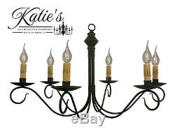 Adams Wrought Iron Chandelier by Katie's Primitive Colonial Country NEW