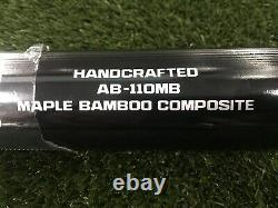Adidas Maple Bamboo Composite Baseball Bat Handcrafted Black AB-110MB AB-271MB