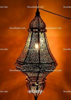 Antique Design Moroccan Lantern Lamp Handcrafted Hanging Light Home Decor Lamps