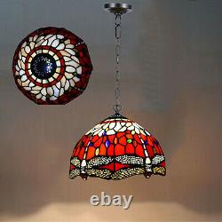 Antique Tiffany Lamp Stained Glass Pendant light Handcrafted Home Decoration UK