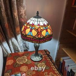 Antique Tiffany Style Table Desk Lamp Handcrafted Stained Glass Home Decoration