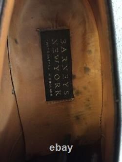 Barneys New York Hand Crafted England 9.5 D Men's Made in Italy Black