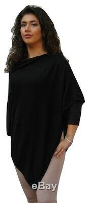Black Cashmere Poncho Handcrafted In Nepal Ladies Luxury Lightweight