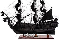 Black Pearl Caribbean Pirate Tall Ship 27 Handcrafted Wooden Ship Model NEW