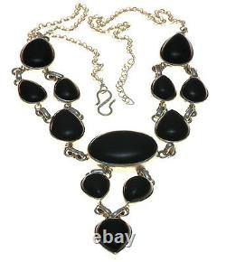 Black onyx Necklace Jewelry Genuine 925 Sterling Silver Artisan Handcrafted New