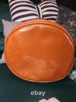 Brand New Handcrafted Love Pain and Stitches Scaredy Cat Orange Black Bag