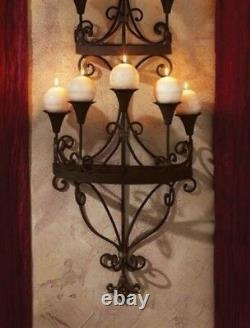 Candle Chandelier Wall Sconce Black Antique Light Holder Handcrafted Candlelight