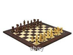 Chess Board Wooden Macassar Set Pro Staunton Handcrafted Weighted Pieces 20