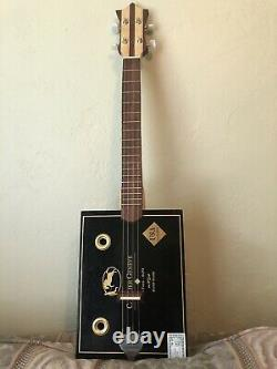Cigar Box Guitar, 4 strings. Handcrafted in USA! Detail Crafting, Perfect Sound