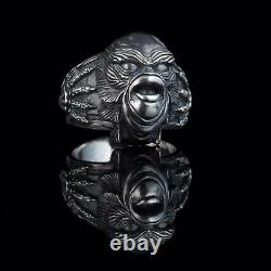 Creature from the Black Lagoon Horror Ring, sterling silver, handmade