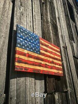 Distressed American Flag, Wooden Handcrafted American Flag