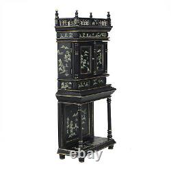 Dollhouse 1/12 scale Black cabinet collection of Chinese landscape painting