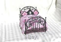 Dollhouse Miniature Bed 112 Artisan PARIS Bedroom Furniture Pink Black FRENCH
