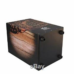 Echoslap GFX Ship Cajon, Black Hand Crafted, 21 Coiled Snare Wire + Free Gig Bag
