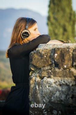 Erzetich Thalia Salvage, Handcrafted Portable On-ear Headphones With Wooden Cup