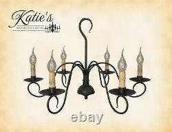 Franklin Chandelier by Katie's Handcrafted Lighting Primitive Colonial NEW