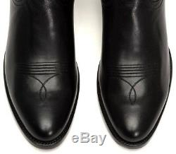 Frye Mens Ross Braided Tall Western Boots Handcrafted Italian Leather 89920