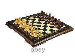 Game Board Traditional Wood Chess Set Handcrafted Ebony Helena Mother Of Pearl