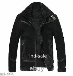 Genuine Leather Jacket Custom Tailor Made All Sizes Suede Handcrafted Faux Fur