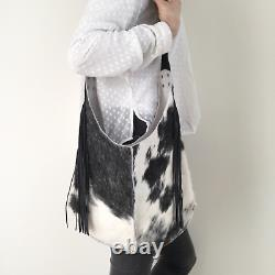 HANDCRAFTED IN TASMANIA Unique Hand made Cowhide Fur 100% Genuine Leather Bag