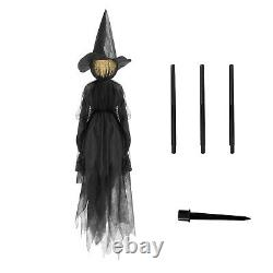 Halloween Decorations Light-Up Witches with Stakes Outdoor Holding Hands Scream