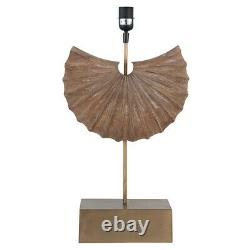 Hand Crafted Wooden Shell Table Lamp Base 50% Off