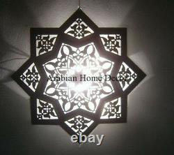 Handcrafted Moroccan 20 Wide Star Flush Mount Ceiling Light Fixture Lamp