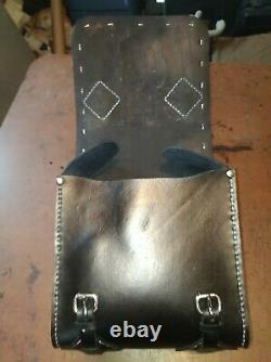 Harley Davidson Leather Motorcycle Sissy Bar Bag Handcrafted