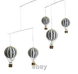 Hot Air Balloon Mobile Decorations Balloons Nursery Decor Black And White