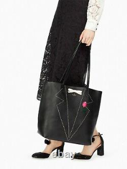 Kate Spade New York Handcrafted On Purpose Black Tuxedo Leather Tote