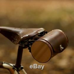 Leather Bicycle Saddle Bag The Barrel Bag Handcrafted Bike Seat Bag