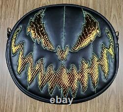 Love Pain & Stitches Handcrafted Black and Snakeskin Bad Company Pumpkin Bag