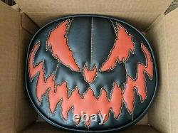 Love Pain and Stitches Black Orange Stitching Bad Company Hand Crafted