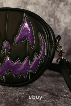 Love Pain and Stitches Hand Crafted Black and Purple Stark Raving BRAND NEW