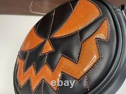 Love Pain and Stitches Handcrafted Black and Glitter orange Classic Pumpkin Bag