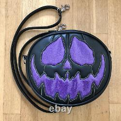Love Pain and Stitches Handcrafted Black with Purple Glitter Unfortunate Soul