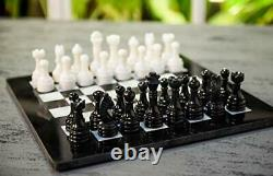 Marble Chess Board Handcrafted Marble Chess set Unique Stone Adult game Board