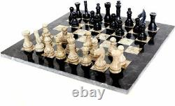 Marble Chess Set Indoor Adult Chess Game Marble Chess Board Handcraft 16 x 16