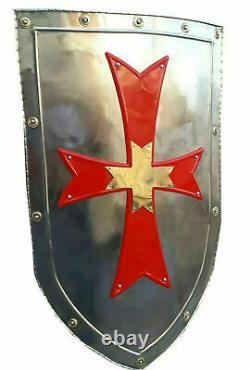 Medieval Knight Shield Metal Handcrafted Medieval Armour Shield Halloween Gift
