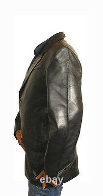 Men's Genuine Lamb Leather Wester / Sports Continental Blazer Handcrafted