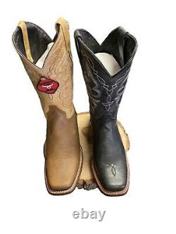 Men's Western Square Toe Cowboy Handcrafted Vaquero Boots-Brand New