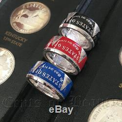 NEW Beautiful Handcrafted Unc Morgan Dollar Coin Rings Sizes 8-16 Powder-coated