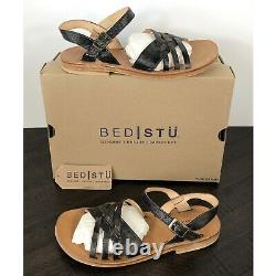 NEW Bed Stu Senado Black Hand Wash Sandals Womens Size 7 Handcrafted Leather