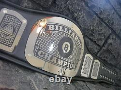 NEW! Billiards Championship Belt King Adult Size Metal Plates Pool Hand Crafted