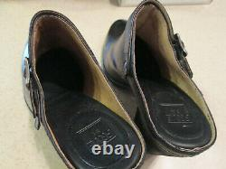 NEW FRYE Handcrafted Black PATTY CLOG Mules 9.5M NEW IN BOX HIGH END $289