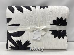 NEW Pottery Barn Lilo Handcrafted Cotton KINGCAL KING QuiltBlack